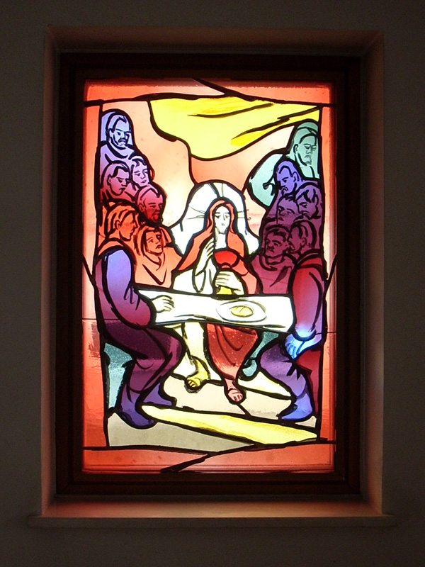 Glasfenster in der Sakristei