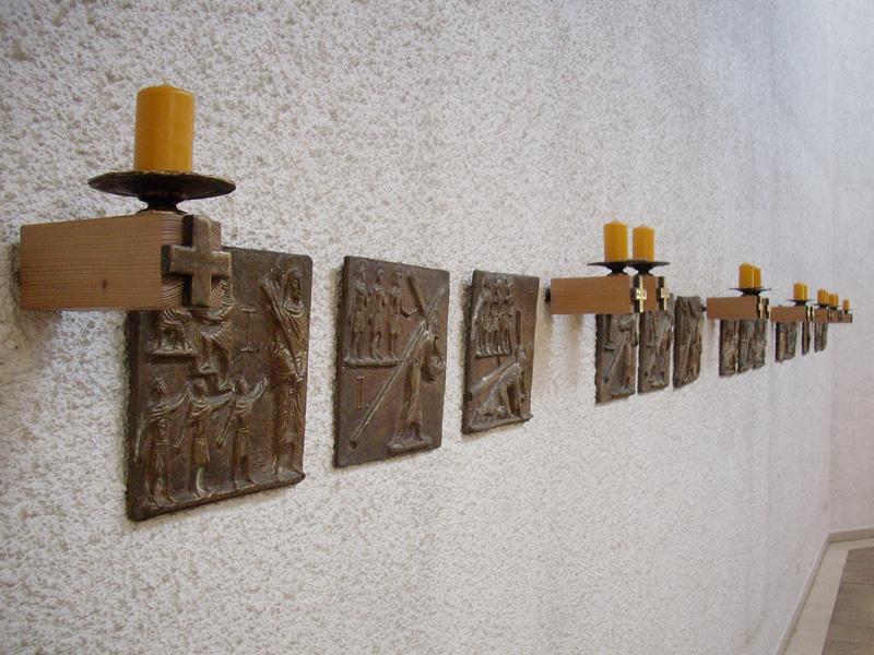 14 Kupfertafeln mit dem Leidensweg Jesu
